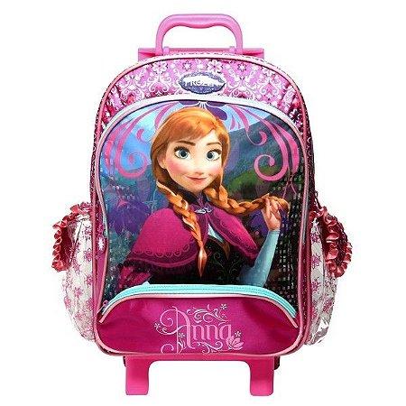 Mochila de Rodinhas Mochilete Escolar Grande Disney Frozen Anna (60219)