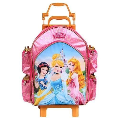 Mochila de Rodinhas Mochilete Escolar Grande Disney Princesas (60394)