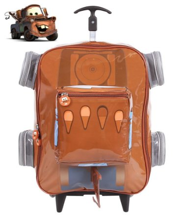 Mochilete Escolar Grande com Rodinhas Carro 3D Mate (60106)