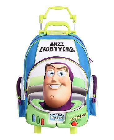 Mochila de Rodinhas Mochilete 3D Escolar Disney Toy Story Buzz Lightyear (60469)