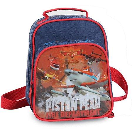Lancheira Infantil Soft com Bolso Disney Aviões Fire (51308)