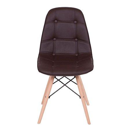 Cadeira Design Charles Eames Eiffel Botonê Marrom Café