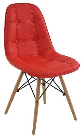 Cadeira Design Charles Eames Eiffel Botonê Vermelho