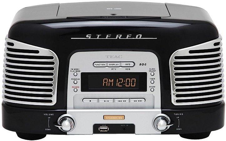 Micro System Rádio Retro Teac SLD-920 - Cd, Am, Fm, Aux, Usb