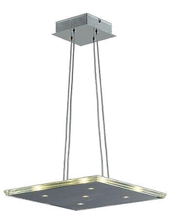 Pendente em Aço e Vidro (KL015L) 46cm
