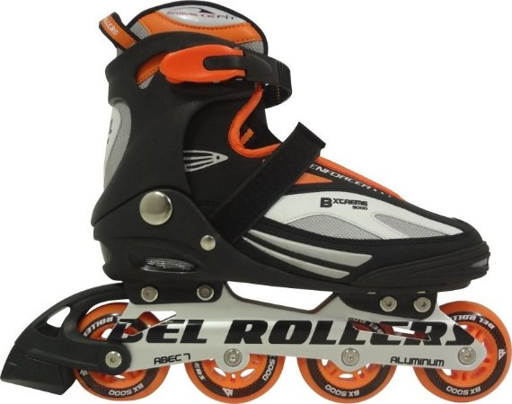 Patins Roller In Line Extreme Laranja Tam.36