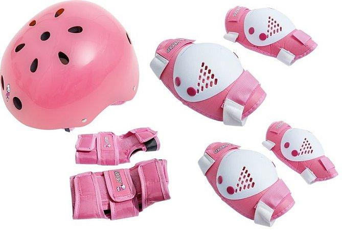 Kit Proteção Infantill Rosa Snoopy M