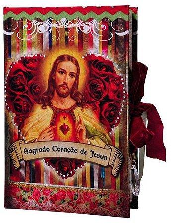 Caixa Livro Decorativa Sagrado Coração de Jesus (4439)