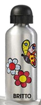 Squeeze de Alumínio Estampa Flores e Borboletas Romero Britto