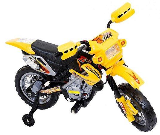 Moto Elétrica Infantil Amarelo