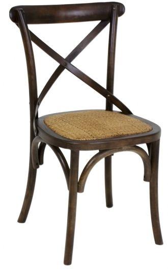 Cadeira Versailles Paris em Madeira Natural Café com Assento em Rattan