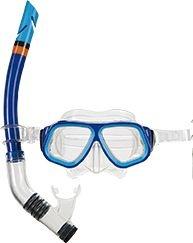 Máscara de Mergulho e Snorkel Juvenil Azul