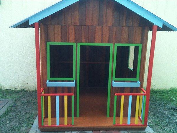 Casinha de madeira - Luxo - Tamanho médio!
