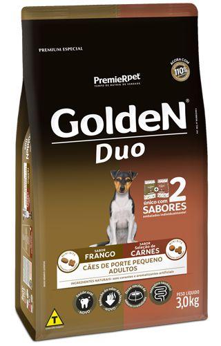 GOLDEN DUO PEQUENO PORTE CARNE E FRANGO 3KG