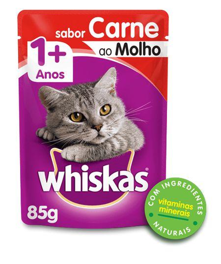 Sachê Whiskas Gato Adulto - Carne ao Molho 85g