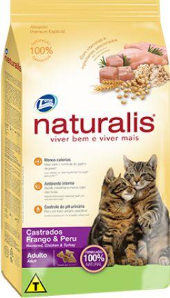 Naturalis Gatos Castrados - Frango e Peru 3kg