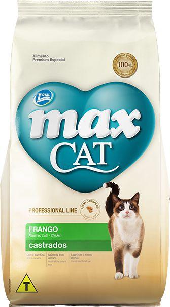 Max Cat Castrados Frango 10kg