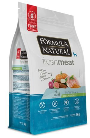 Fórmula Natural Fresh Meat Cães Light Raças Mini e Pequena