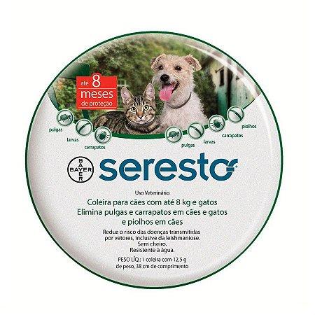 Seresto - Coleira Antipulgas e Carrapatos Bayer - Até 8kg