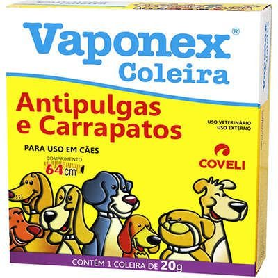 Coleira Antipulgas e Carrapatos Vaponex