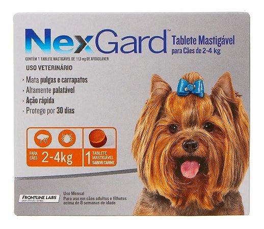 Nexgard Cães de 2 a 4,0kg
