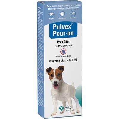 Pulvex Pour-On  Antipulgas e Carrapatos para Cães