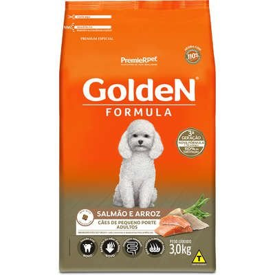 Golden Adulto Pequeno Porte Salmão e Arroz 3kg