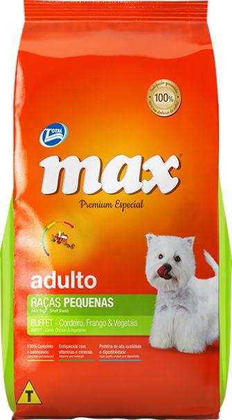 Max Buffet Adulto Pequeno Porte 10kg