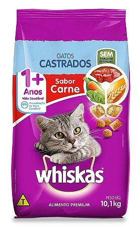 WHISKAS GATO CASTRADO CARNE - 10KG