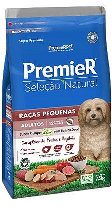 PREMIER SELEÇÃO NATURAL ADULTO PEQ. PORTE 2,5KG