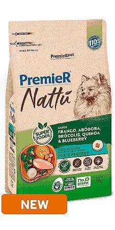 PREMIER NATTÚ CÃES ADULTOS PEQ. PORTE 2,5KG ABÓBORA
