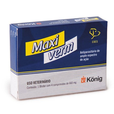 MAXI VERM PLUS - 4 COMPRIMIDOS