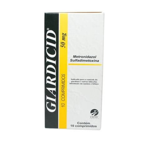 GIARDICID 50MG - 10 COMPRIMIDOS