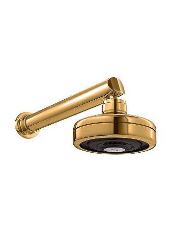 Chuveiro Acqua Plus C/Tubo Parede Gold Matte 1990.GL.CT.MT