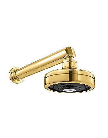 Chuveiro Deca Acqua Plus Gold Com Tubo Parede 1990.GL.CT