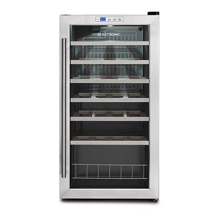 Adega Climatizada Elettromec 28 Garrafas Compressor 1Z 220V - CV-1FS-28-XV-2CAA