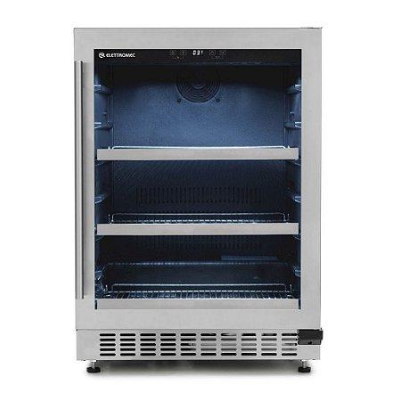 Frigobar Elettromec de Embutir 135 Litros Inox 220V - FB-BI-135-XV-2ATA