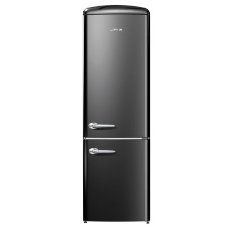 Refrigerador Gorenje Retrô Collection Ion Generation 2 Portas Inverse Preto 220V ONRK192BK