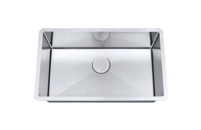 Cuba de cozinha aço inox Arell 1mm escovado S105P 76,2x45,7x22,9cm