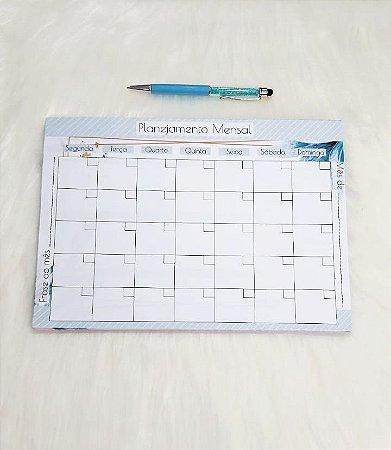 Planejamento anual - blue leaves