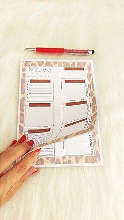 Planejamento diário - animal print