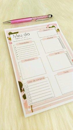 Planejamento diário -  Pink Flower