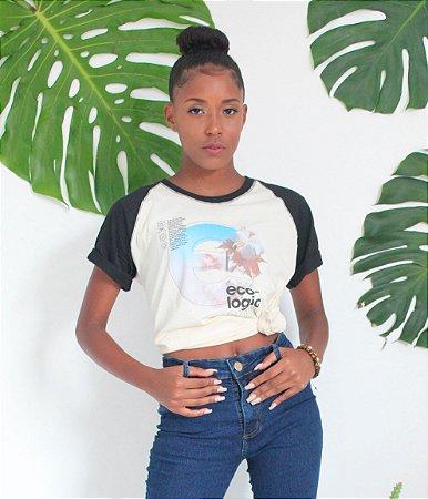 Camiseta Raglan Gola O - Algodão Agroecológico