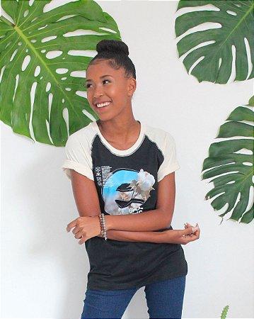 Camiseta Raglan Gola O - Ecologic Soul