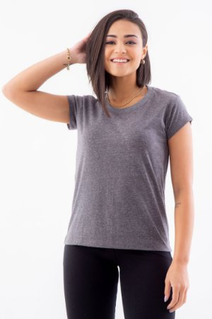 Camiseta Feminina Básica Gola O Malha Botonê Eco