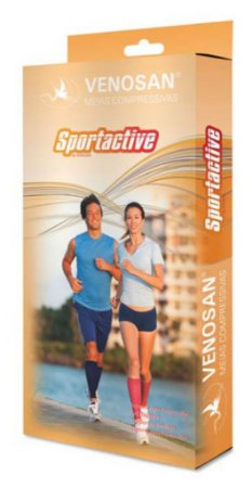 Meias Venosan SportActive Suporte Panturrilha 20-30mmHg Branca