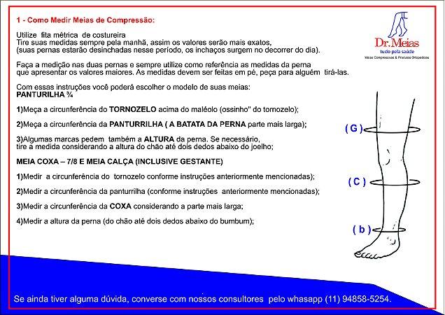 Meias JOBST® Ultrasheer 20-30 mmHg Panturrilha Preta