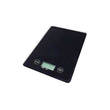 Balança Digital para Cozinha - Vidro Preta - 5kg
