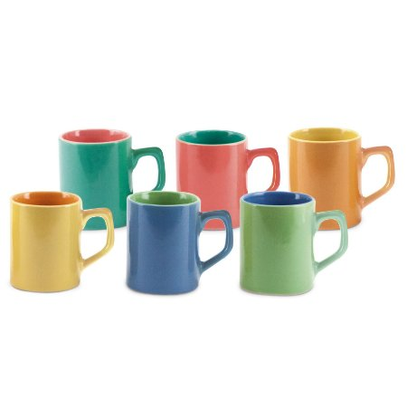 Mini Caneca Bicolor 6 pc 80ml
