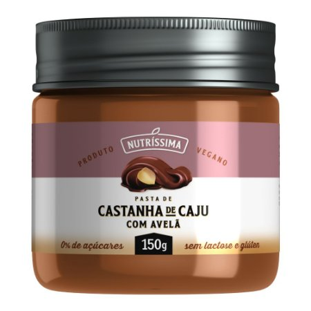 Creme de Castanha de Caju com Avelã - Nutrissima 150g